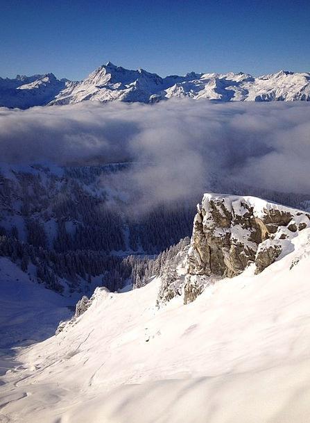 Montafon Crags Snow Snowflake Mountains