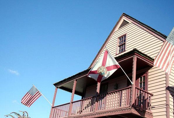 Patriotic Loyal Streamers American Flags Banner Ex