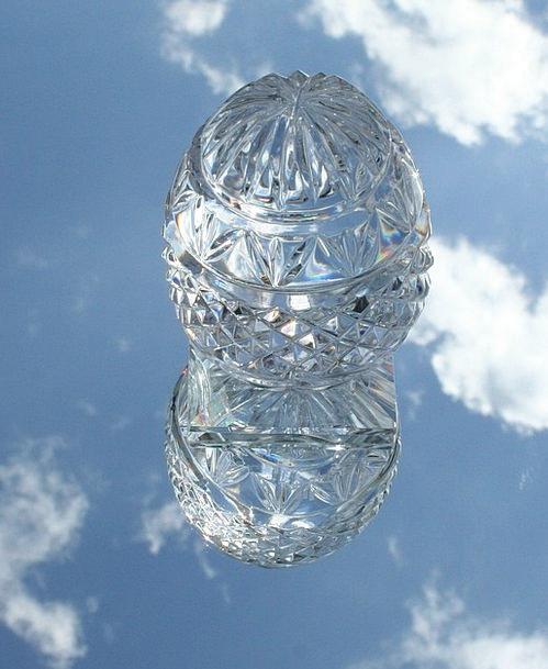 Paperweight Cut-glass Egg Ovum Glass Writing Spher