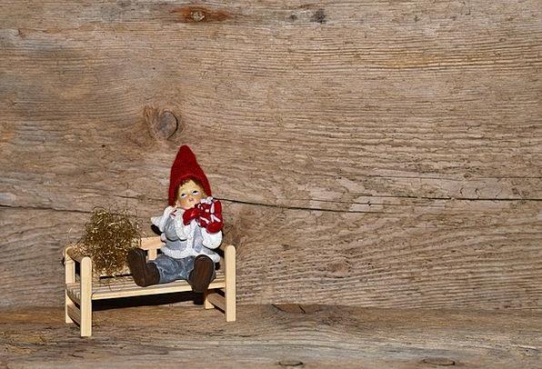 Wichtel Figure Textures Backgrounds Wooden Bench F