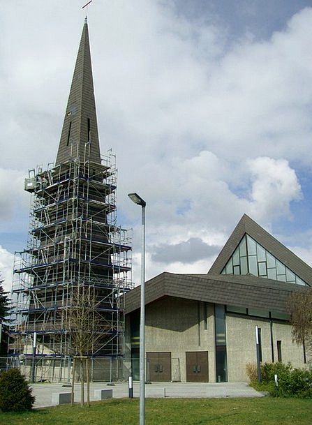 Roof Damage Ecclesiastical Steeple Church Grey Tow