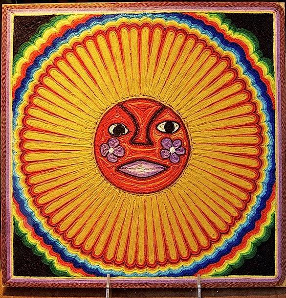 Sun Copy Painting Image Face Art Sunlight Huichol