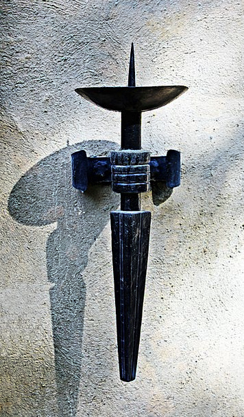 Wall Candle Holder Metal Metallic Wrought Iron Iro