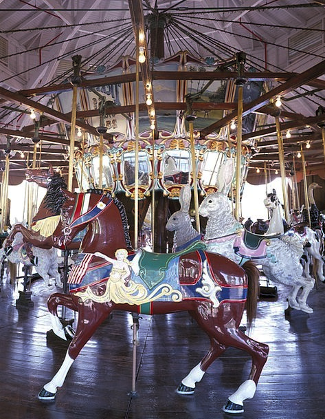 Carousel Cattle Amusement Laughter Horses Enjoymen