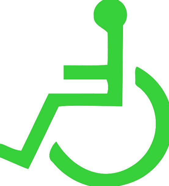 Wheelchair Lime Symbols Ciphers Green Patient Disa