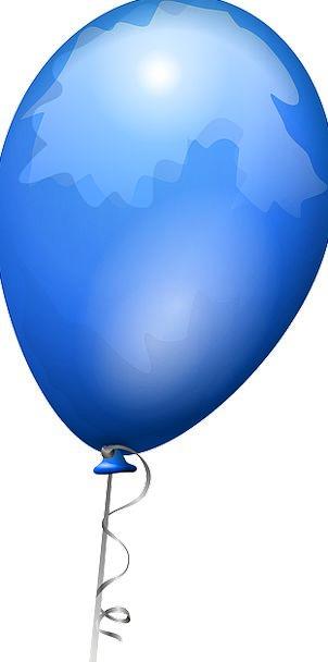 Balloon Inflatable Azure Shiny Glossy Blue Celebra