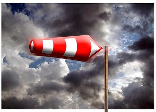 Wind Sock Vapors Forward Onward Clouds Flag Traffi