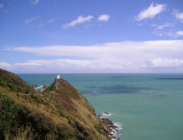 New Zealand Sea Marine Lighthouse Coast Shore Turq