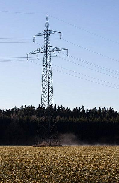 Power Lines Landscapes Tower Nature Strommast Pylo