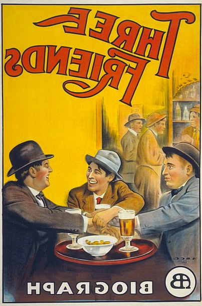 Film Poster, Picture, Three Friends, Poster, 1913, Biograph