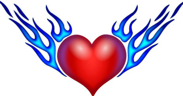 Heart Emotion Fires Love Darling Flames Valentine