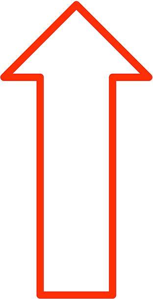 Arrow Missile Awake North Northern Up Sign Symbol