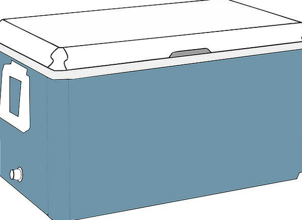Cooler Chiller Large Big Ice Chest Blue Cover Shel