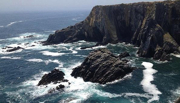 Coastline Shoreline Vacation Travel Rocks Pillars