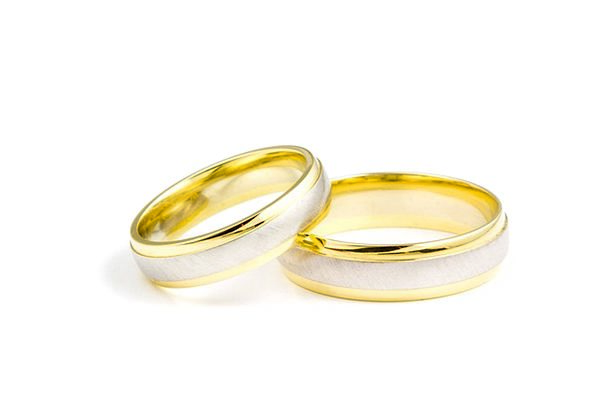 Ring Circle Bridal Rings Jewels Wedding Groom Gold
