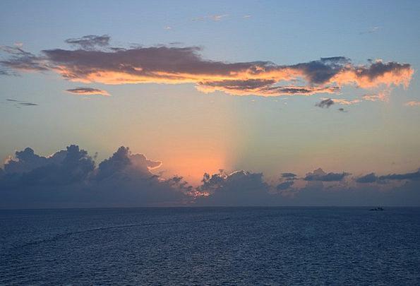 Sunset Sundown Vacation Marine Travel Sea Ocean Ca