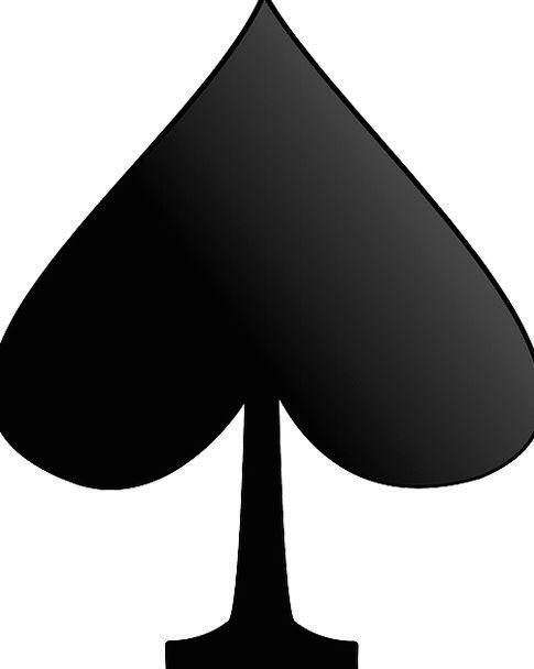 Spades Shovels Black Dark Playing Cards Games Suit
