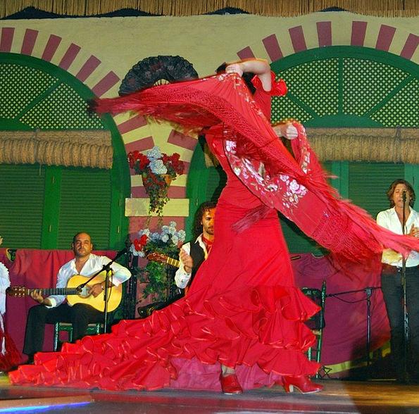 Dance Ball Spain Flamenco Dress Clothing Red Teatr