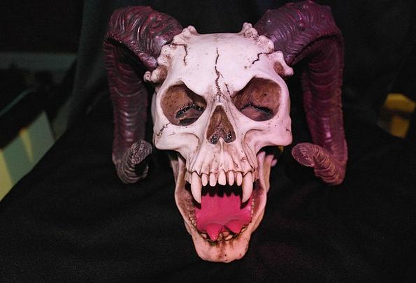 Horned Skull Huge Skull Mind Monster Scary Evil Wi
