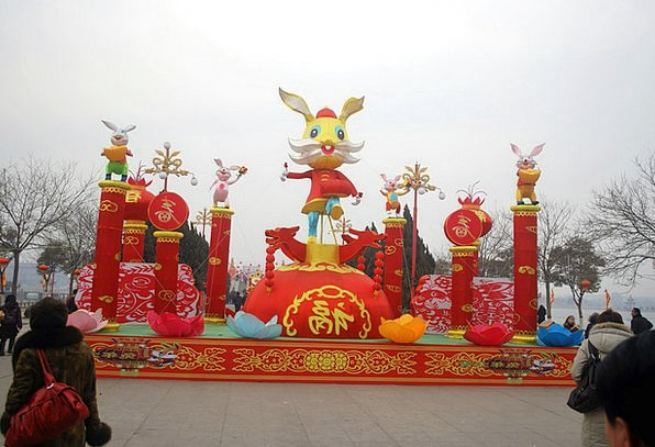 Chinese Novel Year Day New Display Show Rabbit Fes