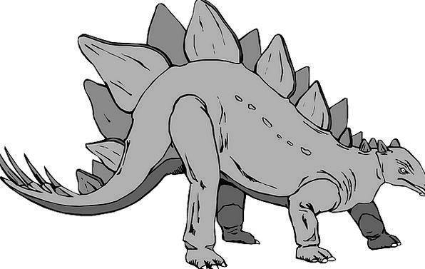 Gray Leaden Relic Stegosaurus Dinosaur Free Vector