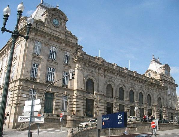 São Bento Station Buildings Architecture Trains Pu
