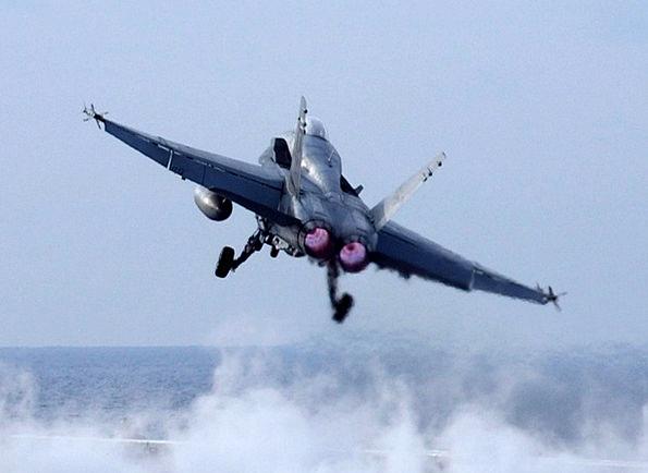 Jet Departure Aircraft Carrier Takeoff Sea Flight