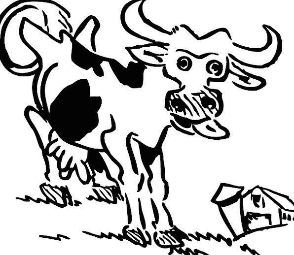 Cow Intimidate Farmhouse Animal Physical Farm Barn