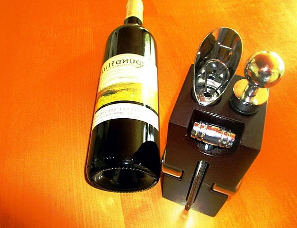 Wine Mauve Wood Block Sommelier Set Set 6Teilig Ta