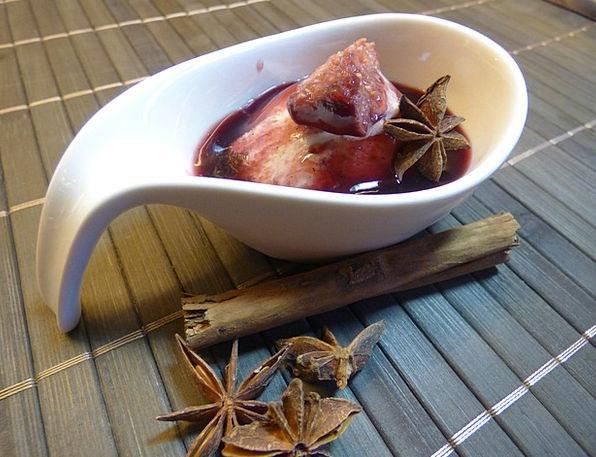 Figs Frost Port Wine Figs Ice Asia Ceramic Earthen