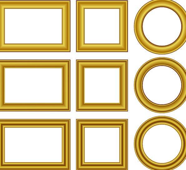 Frame Edge Excellent Shape Form Golden Free Vector