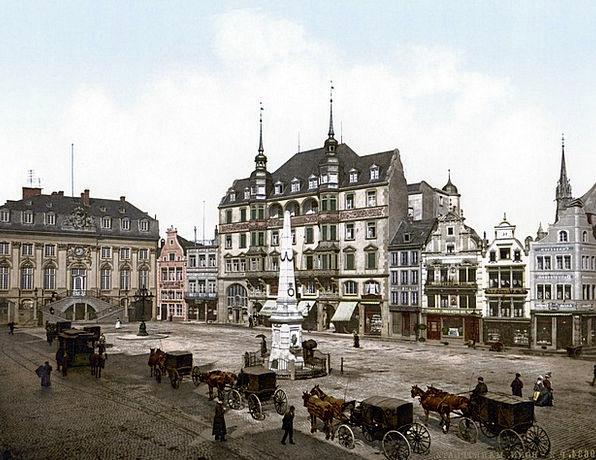 Town Hall Bonn Horse Drawn Carriage 1900 Photochro