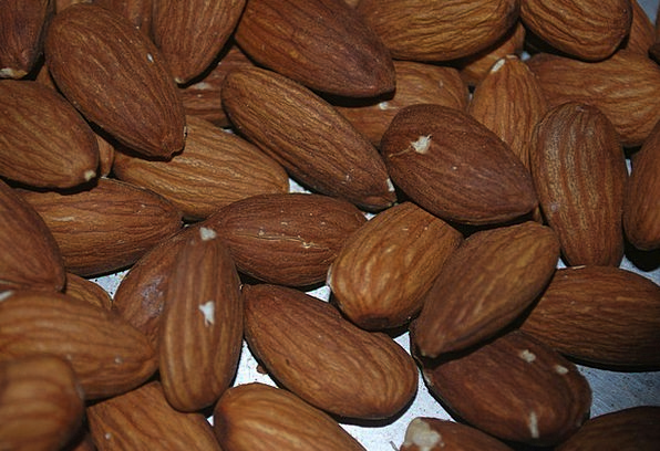 Almonds Drink Mad Food Nutrition Nourishment Nuts
