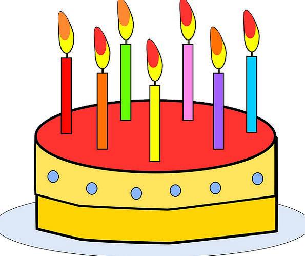 Cake Bar Birthdate Candles Tapers Birthday Free Ve
