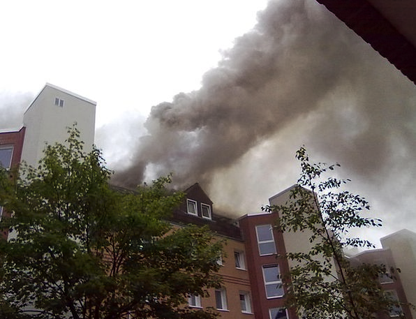Fire Passion Make Apartment Fire Brand Smoke Burn