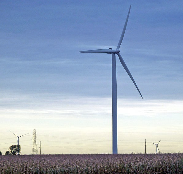 Windmill Corn Goo Indiana Field Arena Cornfield Au