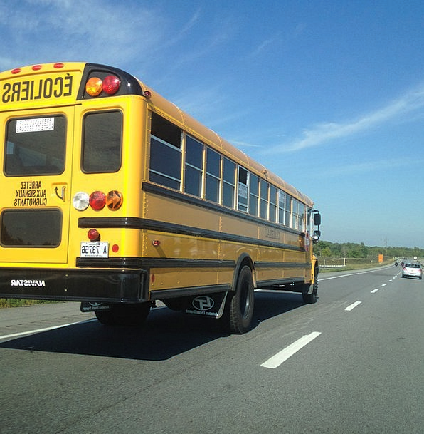 School Bus Traffic Transportation Highway Thorough
