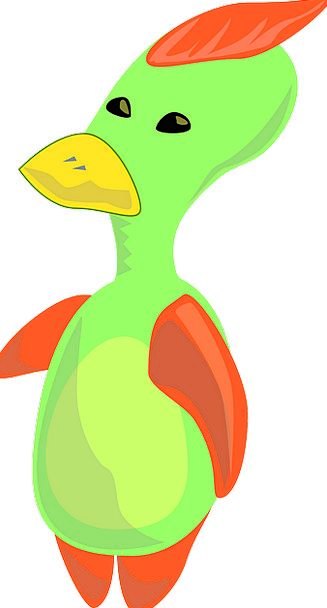 Duck Stoop Charm Cartoon Animation Character Bird