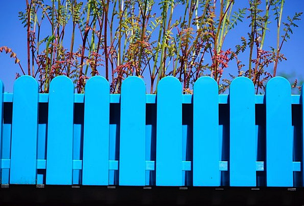 Flower Box Landscapes Azure Nature Garden Fence Bl