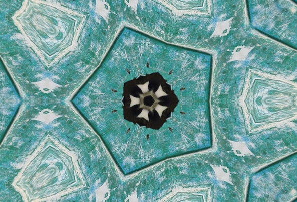 Mandala Mineral Blue Azure Crystal Green Lime Quie