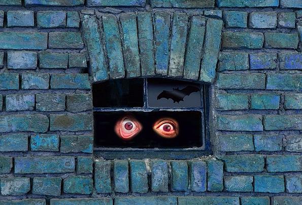 Monster Huge Partition Bat Racket Wall Weird Myste