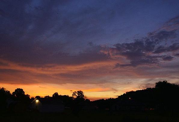 Sky Blue Vacation Sundown Travel Cloud Mist Sunset