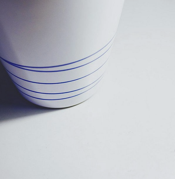 Cup Mug Minimalist Simple Ikea White Snowy Blue St
