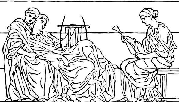 Roman Classical Public Women Females People Ancien