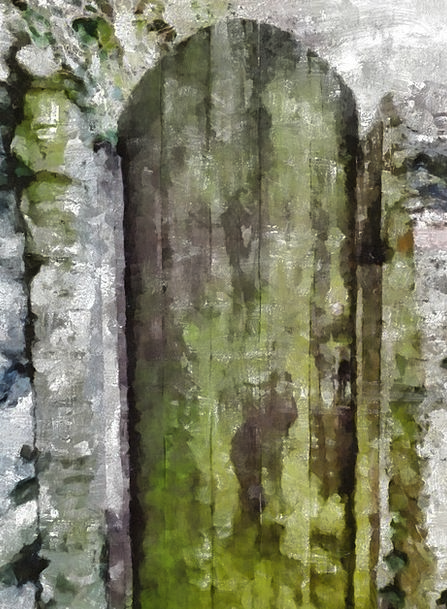 Old Ancient Door Entrance Aged Stain Wood Timber W