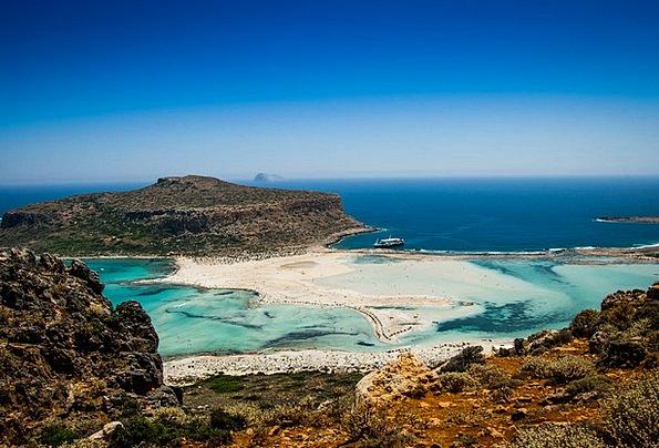 Crete Vacation Seashore Travel Sea Marine Beach Bl
