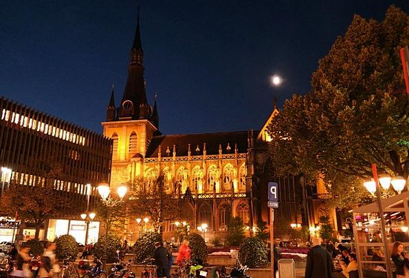 Place De La Cathédrale Liege Cathedral Liège Abend