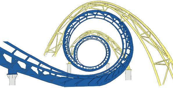 Roller Breaker Beermat Tracks Paths Coaster Swirly