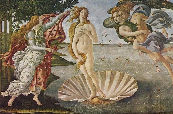 Oil Painting Sandro Botticelli Venus The Birth Of