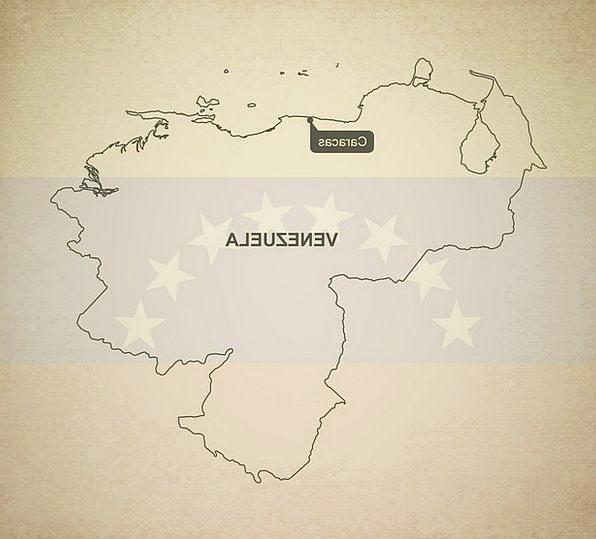 Outline Plan Chart Venezuela Map Geography Topogra